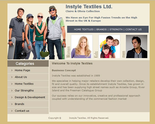 Instyle Textiles Page
